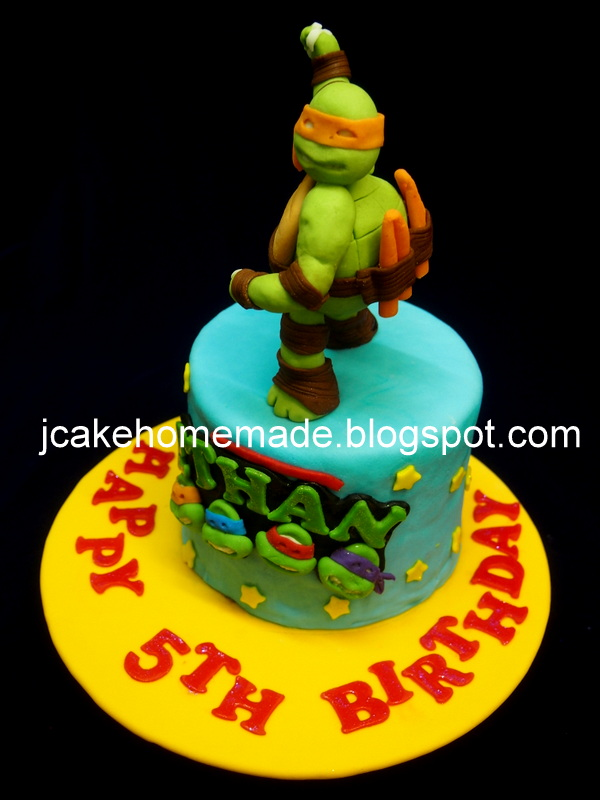 Tremendous Ninja Turtle Birthday Cake A Photo On Flickriver Funny Birthday Cards Online Fluifree Goldxyz