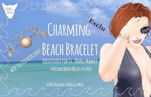 Kitty's Claws GIFT: Charming Beach Bracelet - WON'T BE SOLD AFTER EVENT