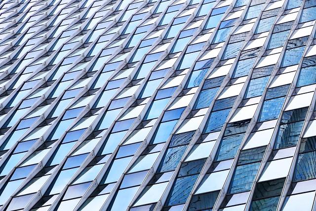 Shanghai skyscraper windows