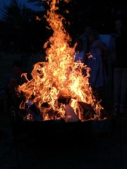 Campfire with Scouts