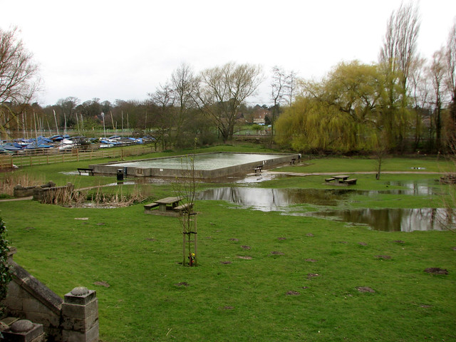 Flooded park in Woodbridge