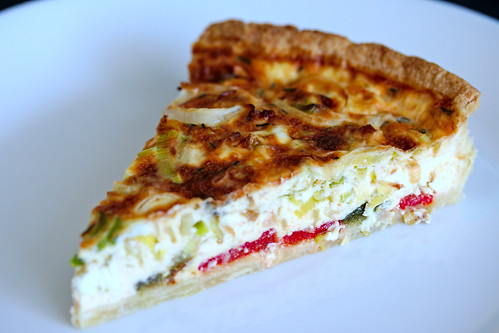 Roasted Pepper and Leek Quiche | by PlatedPalate