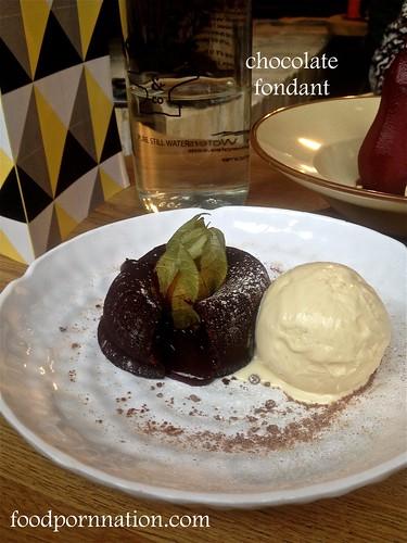 Chocolate fondant, vanilla ice cream - Forge & Co, Shoreditch - London Food Blog | by Priscilla @ Food Porn Nation