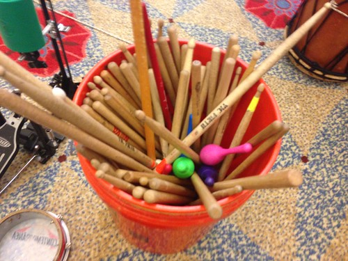 Bucket of Drum Sticks ACT  Artists Creating Together grand rapids public library Drum Circle | by stevendepolo