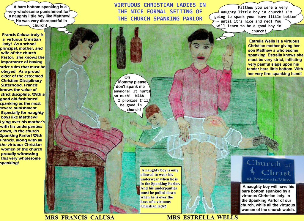 IN THE CHURCH SPANKING PARLOR | Matthew was being very disre… | Flickr
