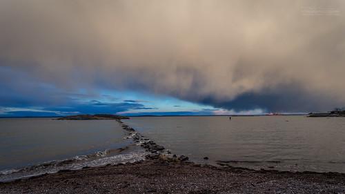blue weather norway fisherman dramatic tønsberg vestfold guriskjæret