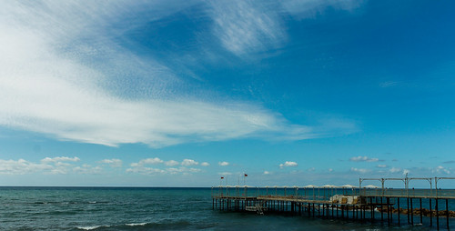 blue sea sky water clouds canon turkey eos pier seaside mediterranean waves antalya 1855 alanya 1100d