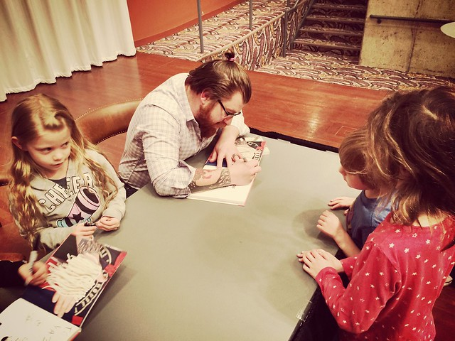 #NoodleKids book signing at the library.