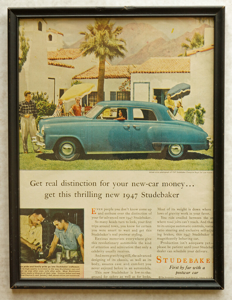 CM020 1947 Studebaker Car Ad Framed DSC04188