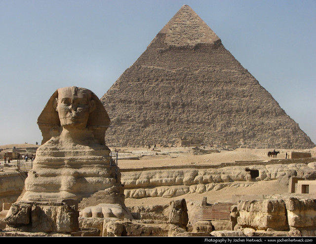Pyramid of Chephren & Great Sphinx, Giza, Egypt