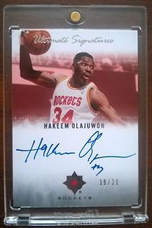 2007-08 Ultimate Collection Signatures #HO Hakeem Olajuwon /20   by milkowski.pawel