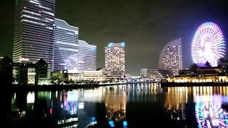 Night Photography Night Lights Buildings Water Reflections Ferris Wheel Urban Landscape City City Lights at 横浜みなとみらい21 (Yokohama Minato-mirai 21) | by OiMax