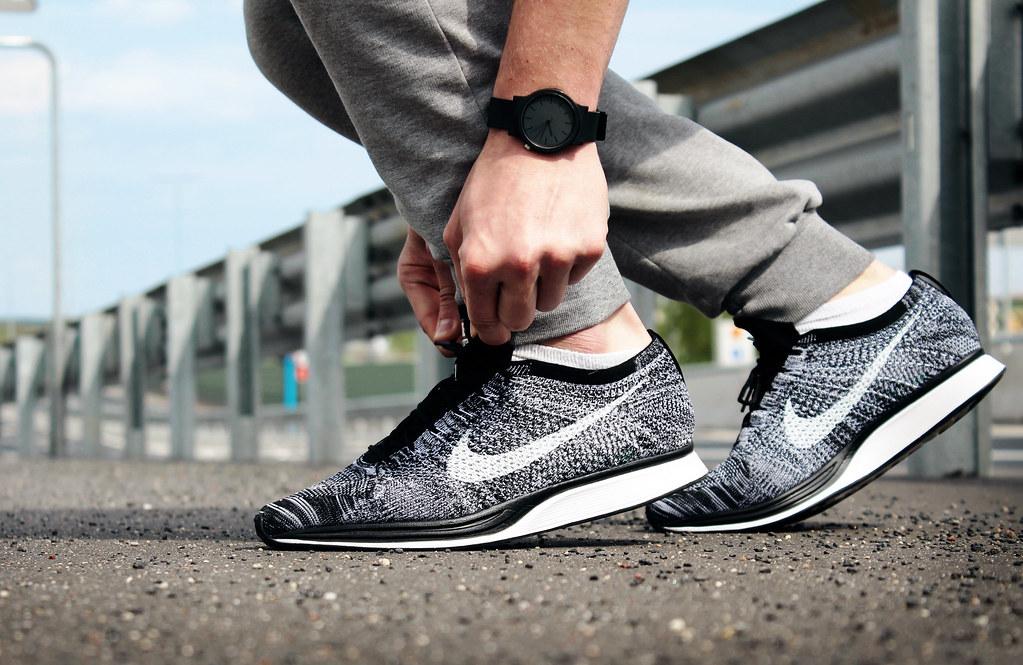 dobrze znany później gładki Nike Flyknit Racer Black/White 'OREO 2.0' | 526628 012 ...