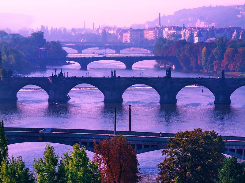 Bridges over the Vltava - Prague, Czech Republic (24.09.2011)