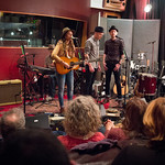 Thu, 12/03/2015 - 7:48pm - Brandi Carlile, Phil and Tim Hanseroth and the band, Electric Lady Studios session, NYC. Hosted by Rita Houston. Photo by Gus Philippas.