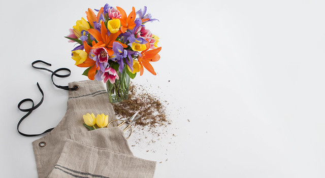 lilies and gardening supplies