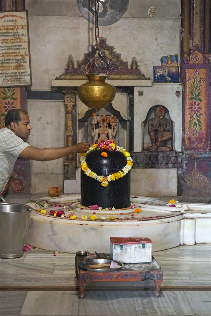 1 Shiva Lingam Temple Pierre de Narmada Rivière Inde
