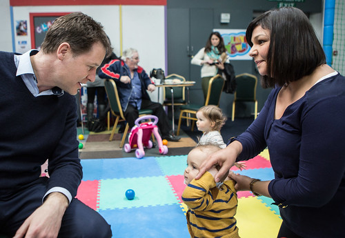 Nick Clegg with Jo Swinson on shared parental leave | by Liberal Democrats