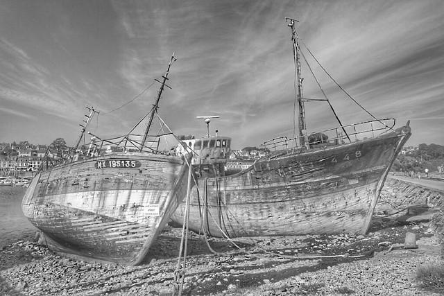 Barconi abbandonati  A Camaret sur mer - Bretagna