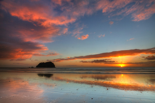 bayofplenty mountmaunganui newzealand northisland nz pacific beach dawn kiwi sunrise winter