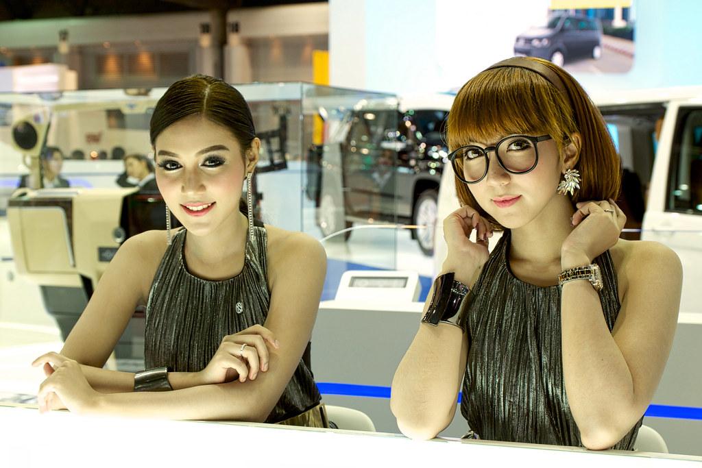 Sexy presenters for Volkswagen at the 36th Bangkok Interna… | Flickr