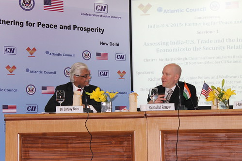 Rick Rossow, Senior Fellow and Wadhwani Chair in US-India Policy Studies, CSIS, with Dr. Sanjay Baru assessing US-India trade and the importance of economics to the security relationship