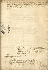 Lettre du XVIème siècle