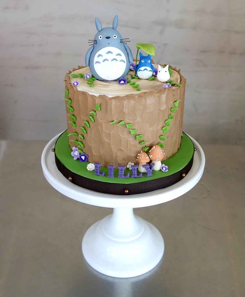 Incredible My Neighbor Totoro Birthday Cake Sasa Flickr Funny Birthday Cards Online Aeocydamsfinfo