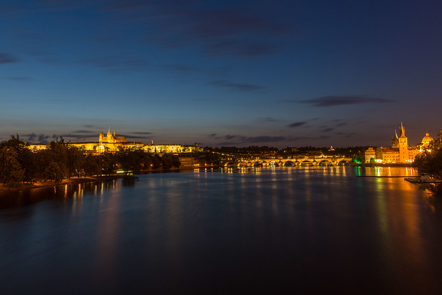 Prague, the castle and the bridge