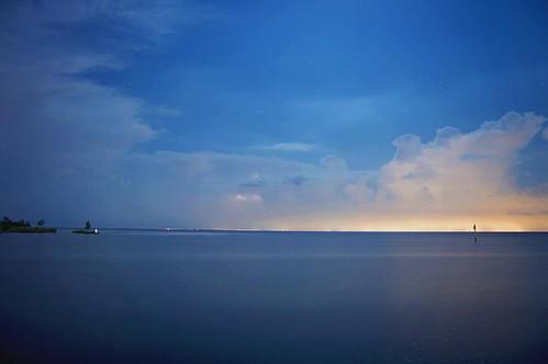 square squareformat sunset thunderstorm mandeville storm nikon photography ryankirk nighttime nightscape landscape bluehour night nightshot longexposure lakeside lakeshore