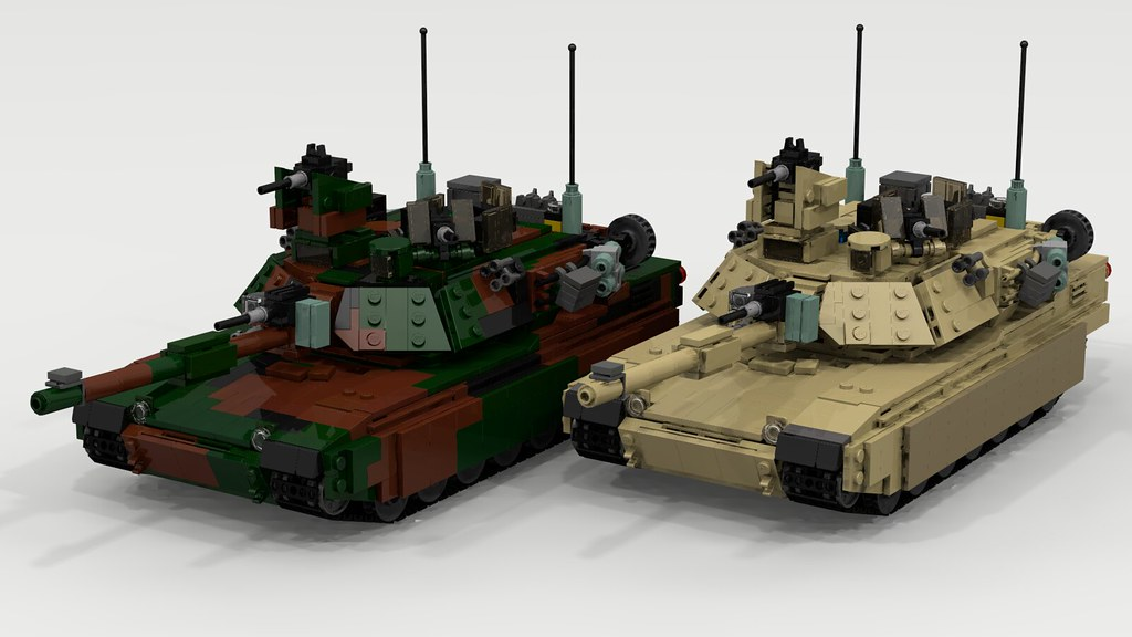 02cd1cbbe5de ... TheRookieBuilder Woodland and Desert M1A2 Abrams