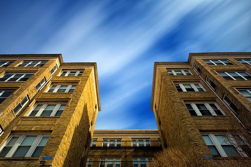 longexposure urban building boston architecture canon photography brighton massachusetts wideangle bluesky historic lookup aberdeen daytime artdeco polarizer cloudmovement neutraldensity leefilters gregdubois