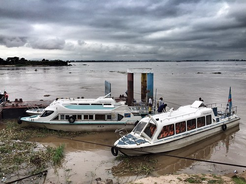 National Coordinators passing the river to arrive to Kinshasa | by The EITI