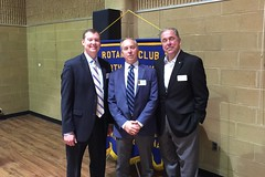 Club President Jay Williams with members (and today's speakers) Erik Grunwald and Scott Tarkenton.