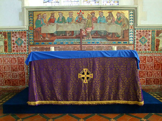 high altar dressed for Lent