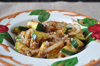 Zucchini and Onion Rice Bowl | by twoyoungladies
