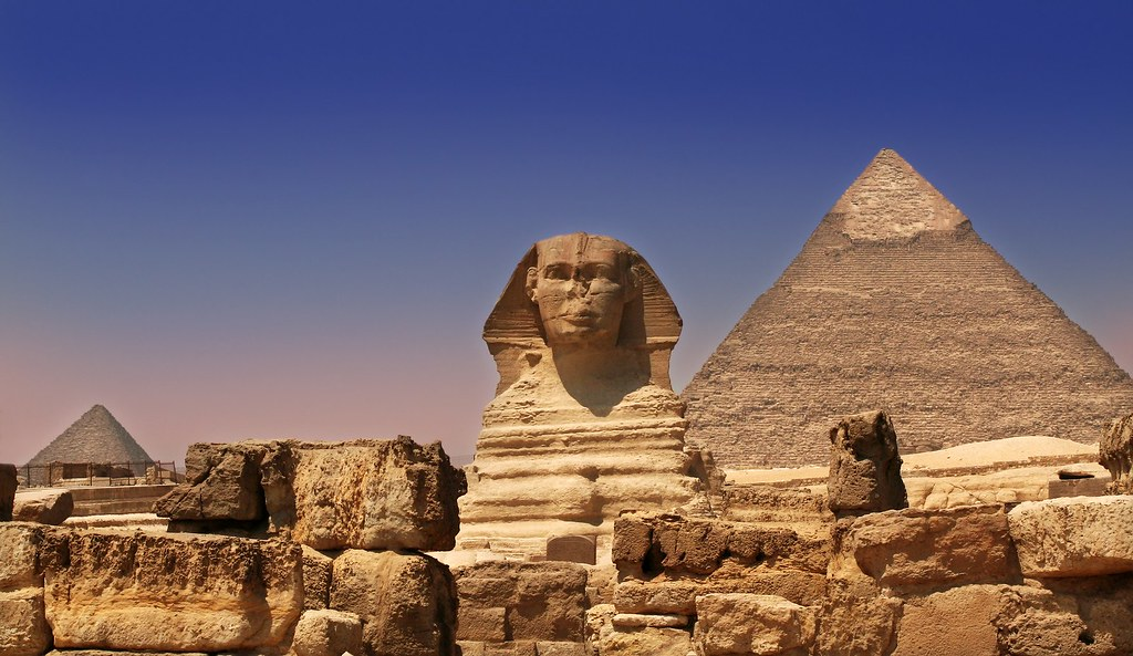 Image result for egyptian pyramids and sphinx