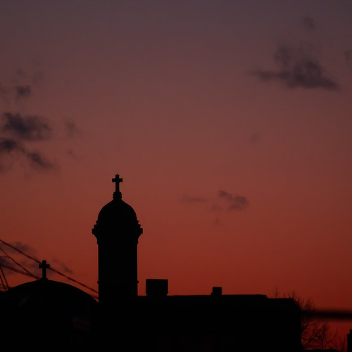 roof winter sunset church clouds montreal olympus mileend kiron kiron80200f4 pls5