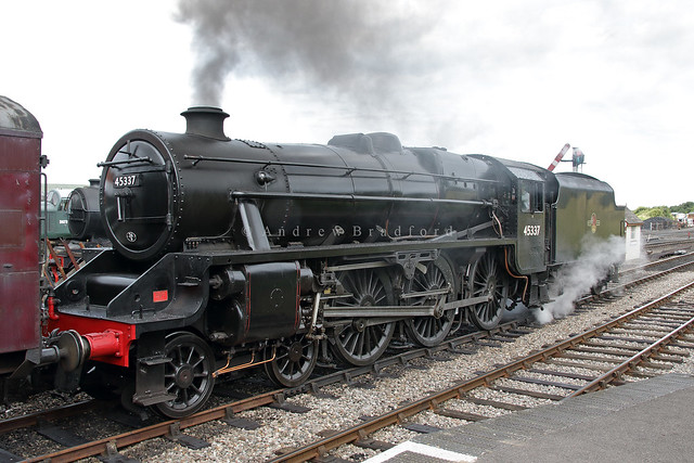 Stanier Class 5 45337, Weybourne Station, North Norfolk Railway.