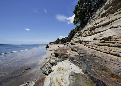 ocean newzealand summer cliff beach nature landscape tide low shoreline rocky auckland shore nz takapuna waterscape ef1635mmf28lllusm canoneos5dmarklll lisaridings fantommst