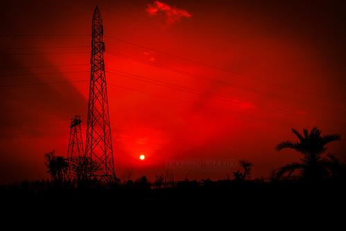 red nature silhouette sunrise photography nikon punjab ludhiana sutlej d5300 ladhowal