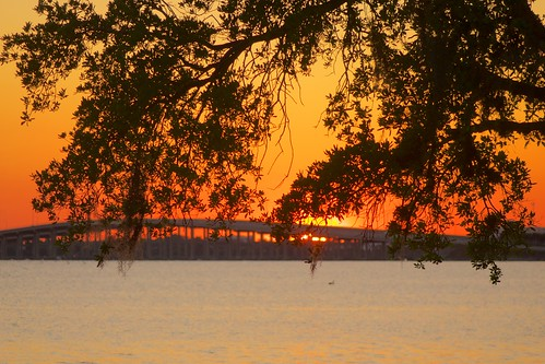 sunset florida causeway indianriver indialantic