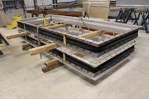 11 Foot Long Rectangular Fabric Expansion Joints Designed for a Gas Turbine