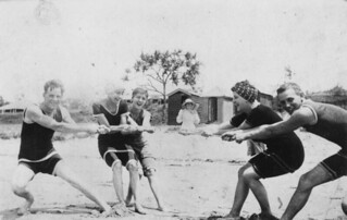 Beach tug of war at Southport, Gold Coast | by State Library of Queensland, Australia