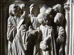 seven sacrament font: Matrimony (detail)