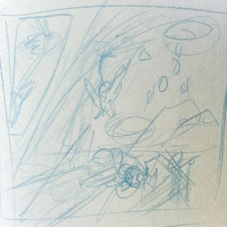 The inscrutable scribbles that become @boulderandfleet pages  #comics #boulderandfleet | by Jerzy Drozd