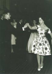 Rural Youth Ball 22ndApr1960 Gawler Institute Jamie Lillecrappe & Rosemary Gordon [Trish Shanahan in background]