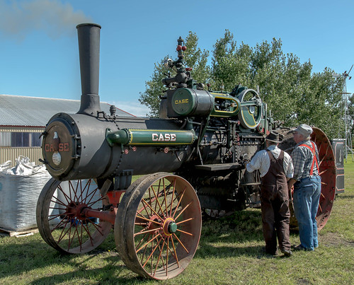 Case steam powered tractor | by Corralstar