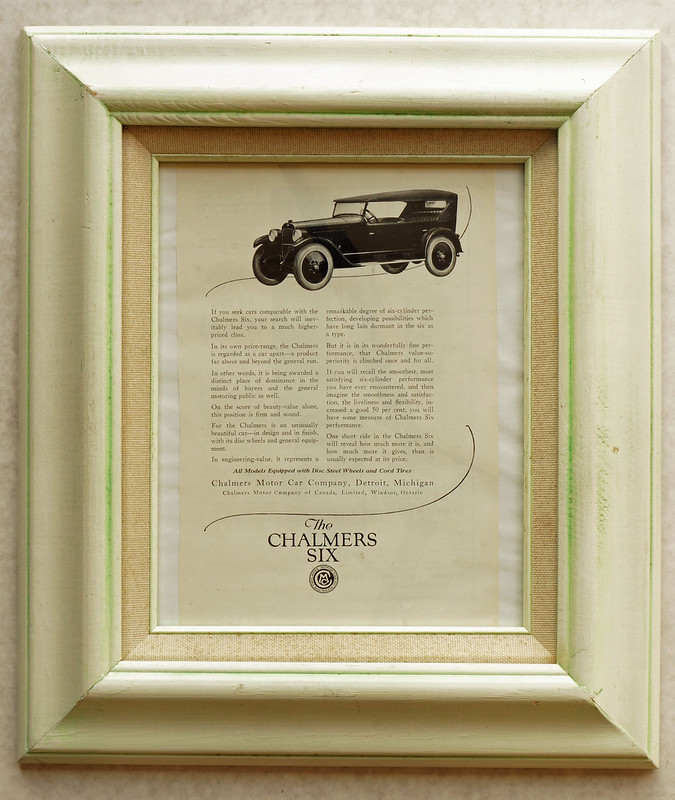 CM050 1922 Chalmers Six Car Ad Framed DSC04180
