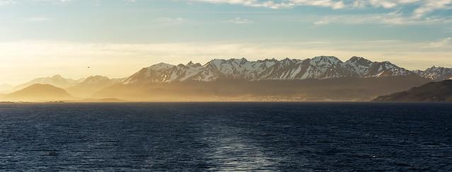 Leaving Ushuaia, Tierra del Fuego, Patagonia, Argentina (Pano)